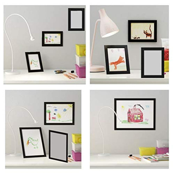 Photo Frame Set with Stickers/Matches with Geometric World Map