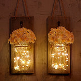 Rustic Jar Sconces Wall Decor with LED Strip Lights
