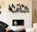 Metal Bird Flocks Metal Wall Art 3D
