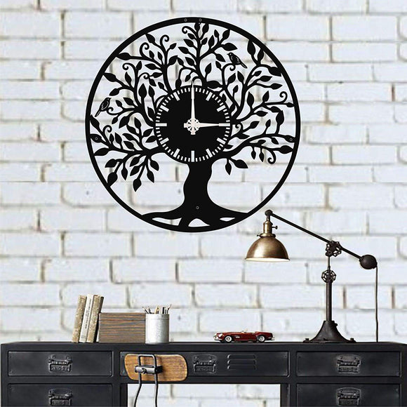 Metal Wall Clock/  Life Tree