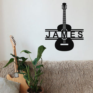 Custom Guitar Decoration, Metal Wall Art