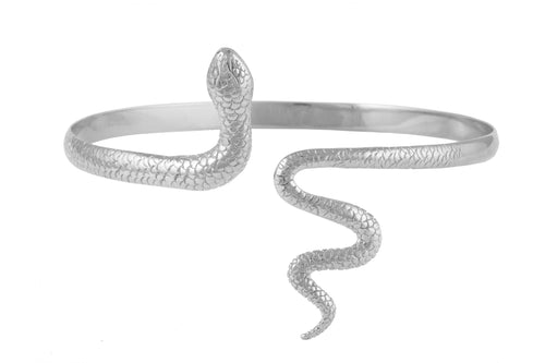 Snake shoulded bracelet. Silver.
