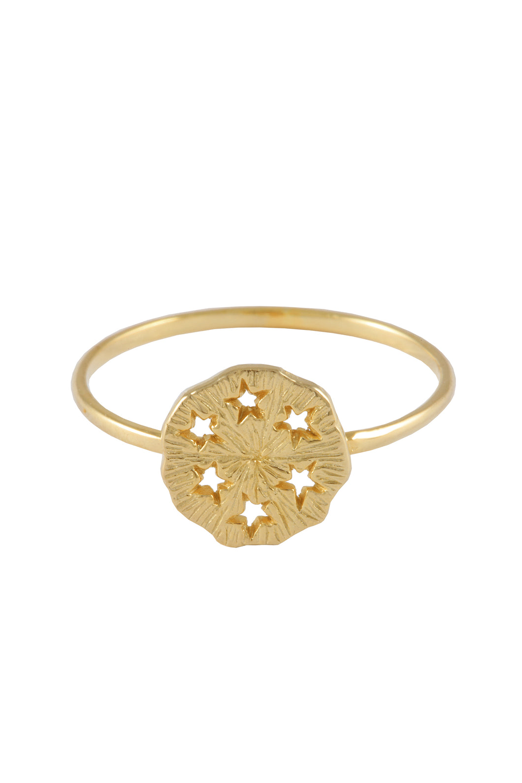 Full moon ring. Gold plated