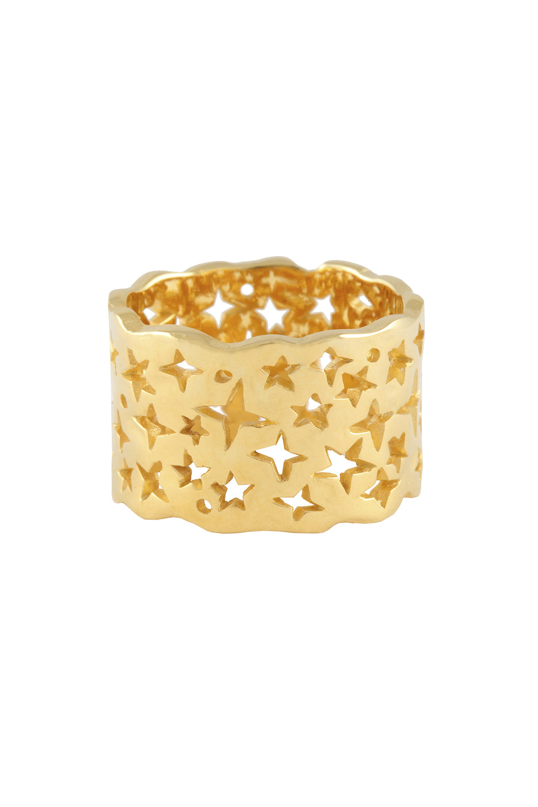 Milky way ring. Silver, gold plated