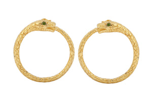 "Earrings ""Snake"". Gold plated"
