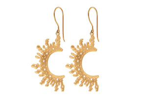 Half Sun earrings. Gold plated.