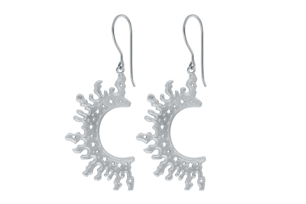 Half Sun earrings. Silver.