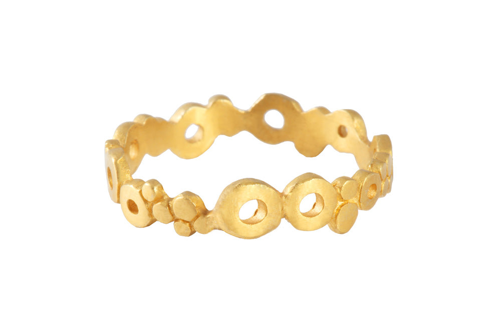 Ring with elements - Air. Gold plated.