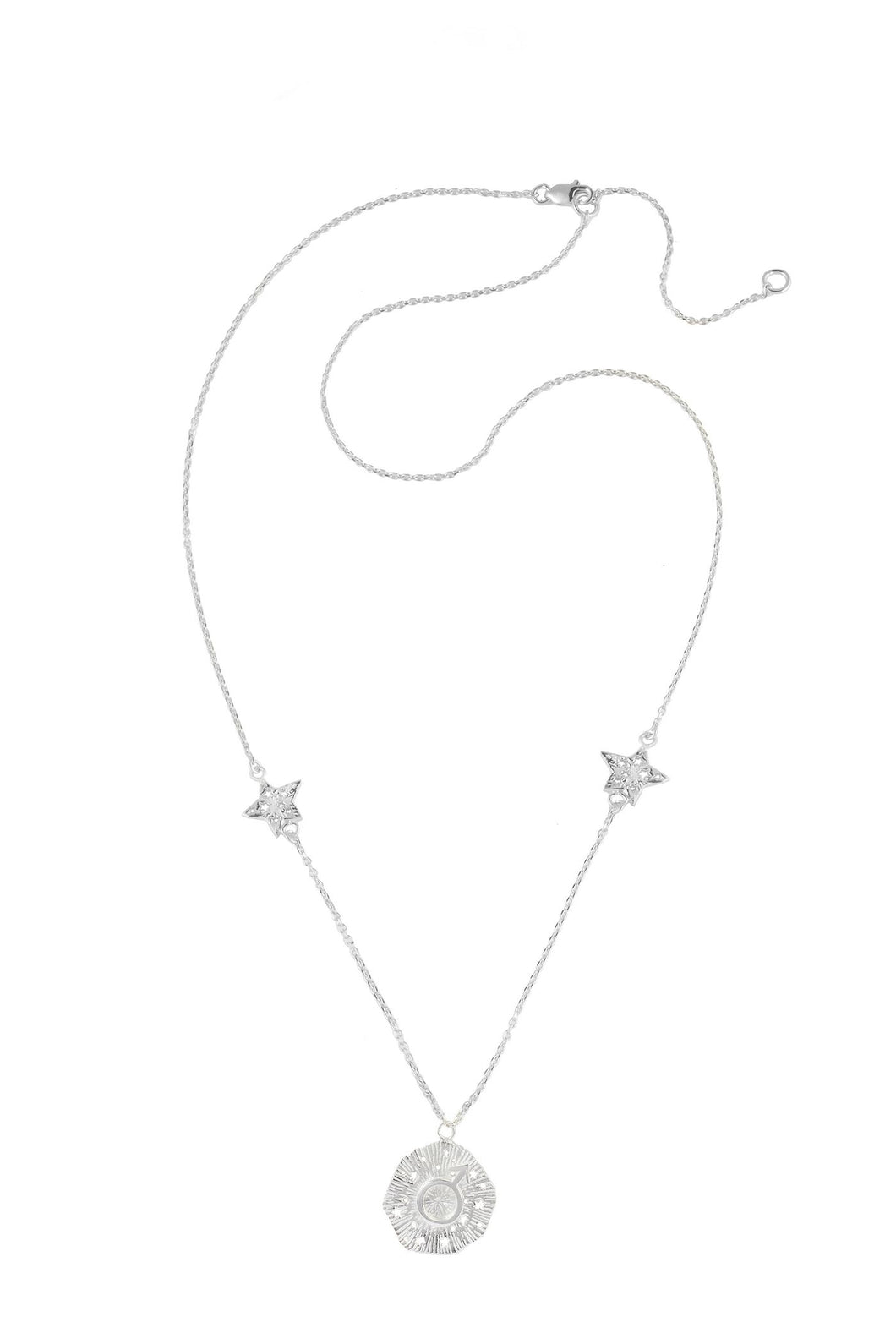 Mars pendant with stars, 46 sm, Silver