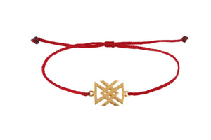 "String bracelet with bind rune ""Health amulet"""
