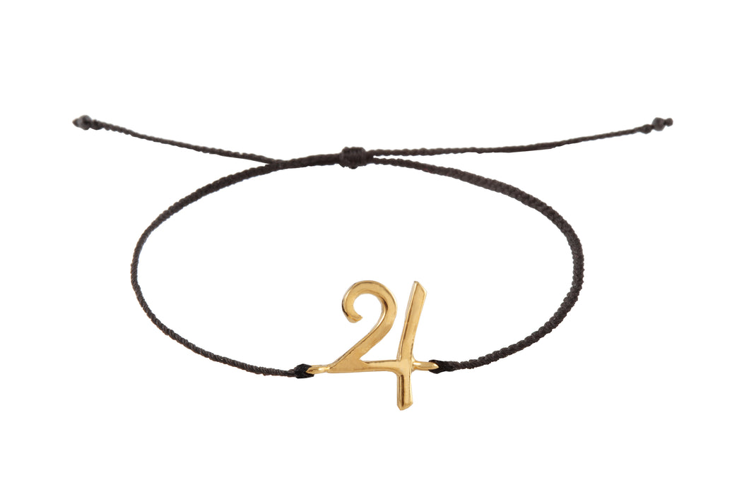 String bracelet with Jupiter amulet. Gold plated.