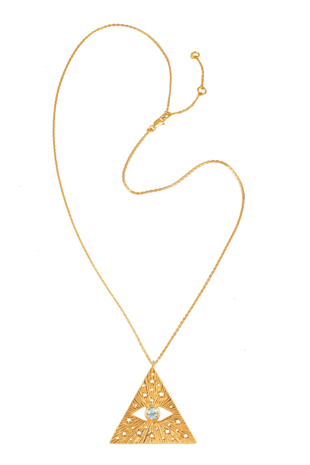 All-seen-eye necklace. Gold plated.