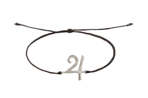String bracelet with Jupiter amulet. Silver