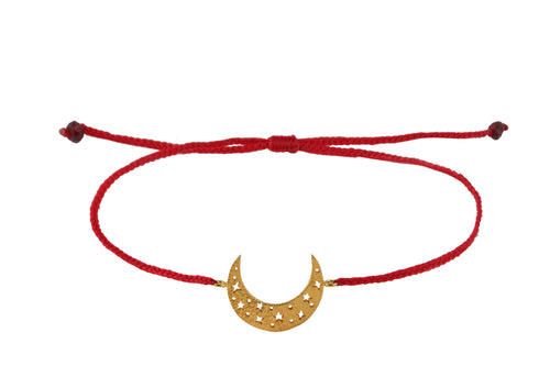 String bracelet with Moon amulet