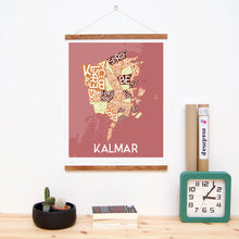 madmap kalmar poster vintage canvas print red