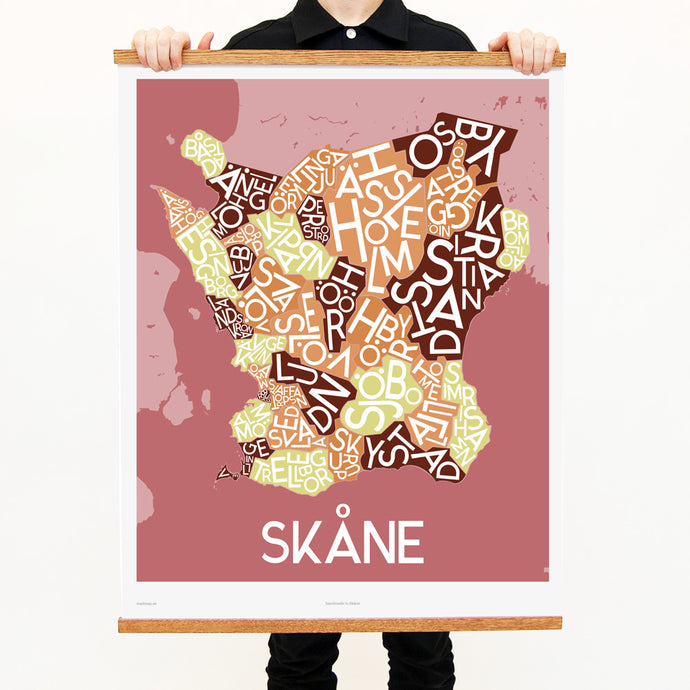 madmap skane poster vintage canvas print red
