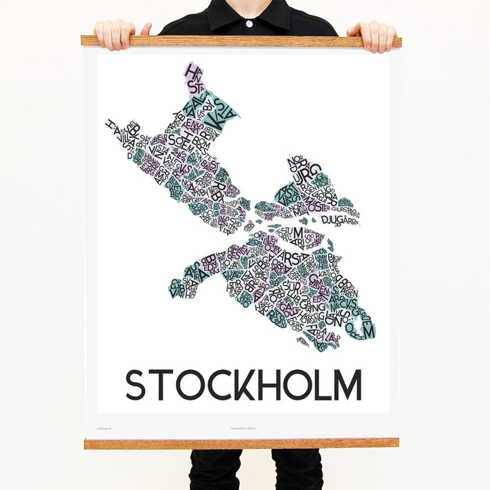 madmap stockholm poster vintage canvas print white
