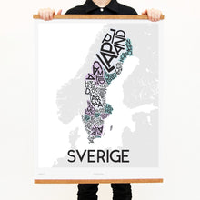 madmap sweden poster vintage canvas print white