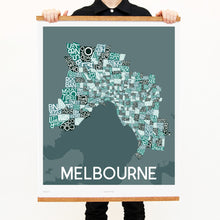 madmap melbourne poster vintage canvas print green