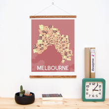 madmap melbourne poster vintage canvas print red