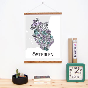 madmap osterlen poster vintage canvas print white