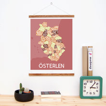 madmap osterlen poster vintage canvas print red