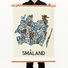 madmap smaland poster vintage canvas print beige