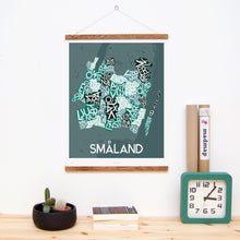 madmap smaland poster vintage canvas print green
