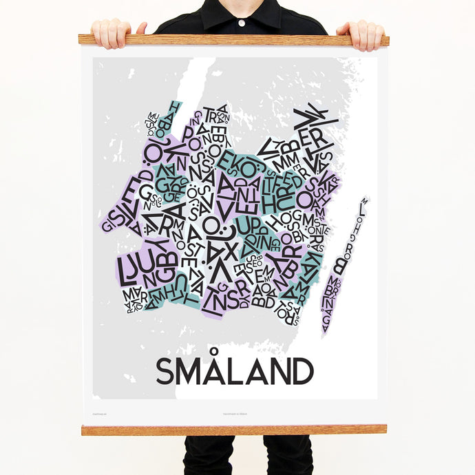 madmap smaland poster vintage canvas print white