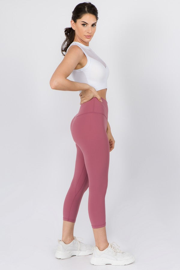 "Limitless Light Lux High-Rise 21"" Crop Legging - MEAS Active"