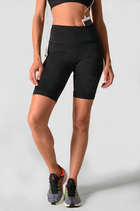 "Momentum Lux Satin High-Rise 8"" Biker Short - MEAS Active"