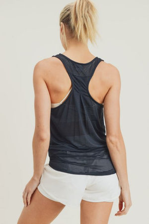Easy Breezy Shadow Stripe Tank - MEAS Active