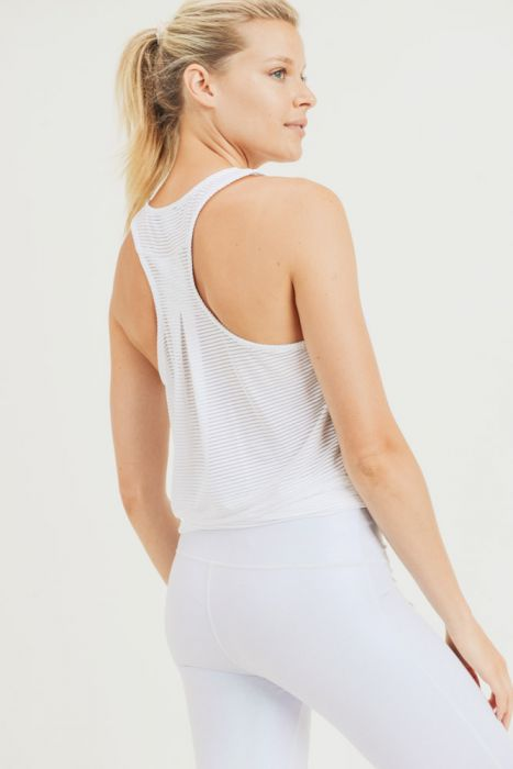 Easy Breezy Shadow Stripe Tank