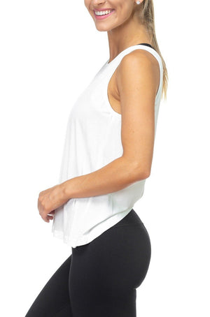 Peek-A-Boo Twist Back Tank