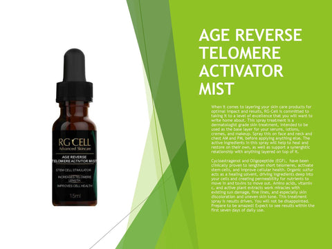 AGE REVERSE TELOMERE ACTIVATOR MIST (Available in 15ml, 60ml, & 120ml)