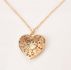Gold Silver Heart Necklace
