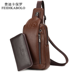 FEIDIKABOLO Leather Chest Bag