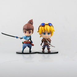 2pcs Yasuo Ezreal Lol Game Figure