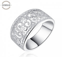 Patterned Silver Ring