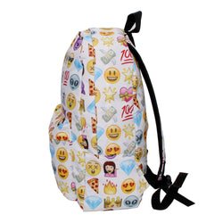 3D Emoji White Backpack