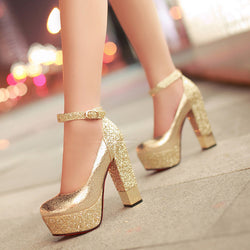 Bright High-Heeled Shoes