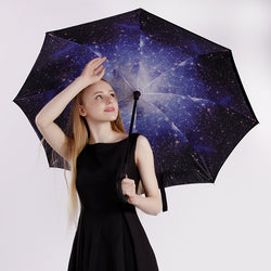 Patterned Double Layer Folding Umbrella