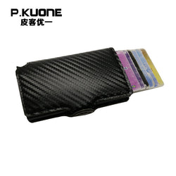 P.KUONE Credit Card Leather Wallet