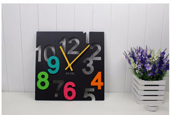 3D Modern Written Wall Clock