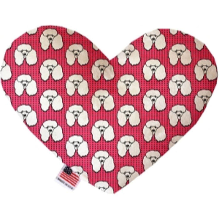 Pretty Poodles Stuffing Free Heart Dog Toy