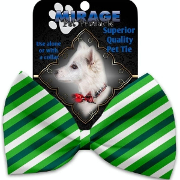 St. Patrick's Stripes Pet Bow Tie Collar Accessory with Velcro
