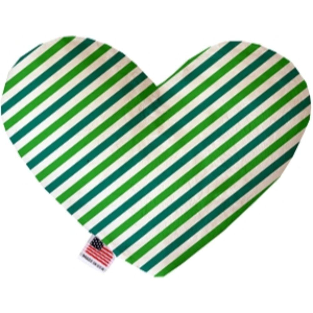 Lucky Stripes Stuffing Free Heart Dog Toy
