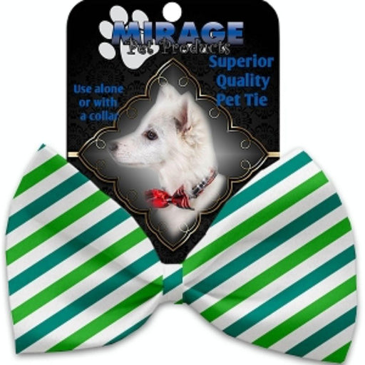 Lucky Stripes Pet Bow Tie Collar Accessory with Velcro