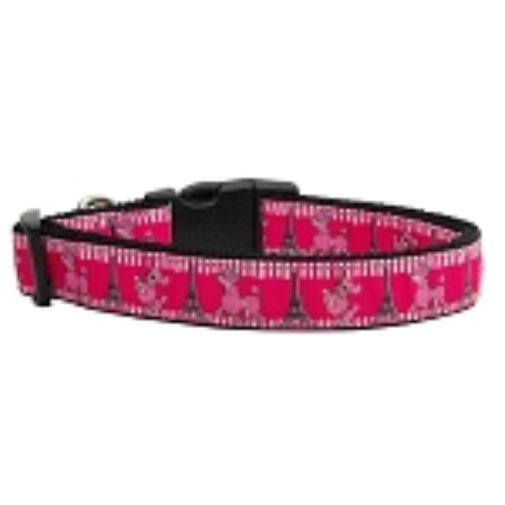 Poodles in Paris Nylon Ribbon Collars
