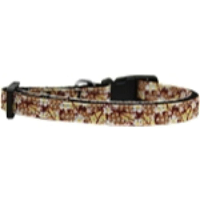 Autumn Leaves Nylon Ribbon Cat Safety Collar
